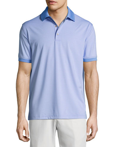 Crown Sport Creto Striped Performance Polo Shirt