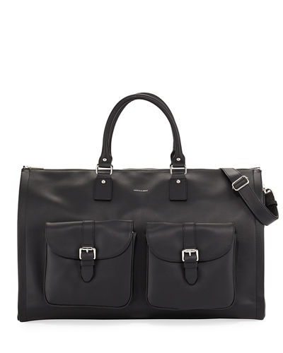 Pebbled Leather Carry-On Garment Weekender Bag