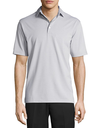 Commander Striped Short-Sleeve Jersey Polo Shirt