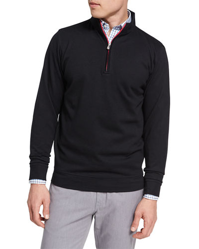 Crown Comfort Heather Interlock Quarter-Zip Pullover