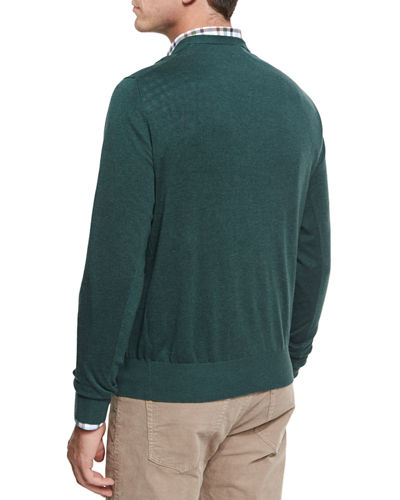 Crown Soft Cotton V-Neck Sweater