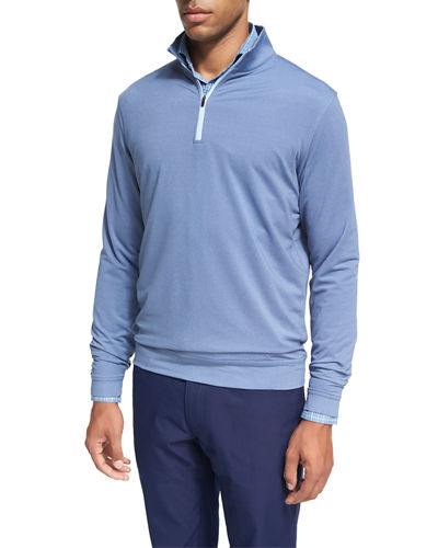 Peter Millar Crown Sport Perth Glen Plaid Quarter-Zip