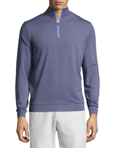 Crown Sport Perth Glen Plaid Quarter-Zip Pullover