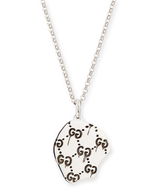 gucci necklace mens. guccighost men\u0027s sterling silver skull necklace gucci mens n