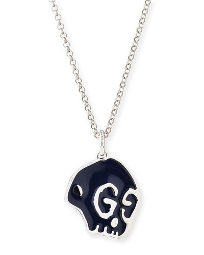 GucciGhost Men's Sterling Silver Skull Necklace