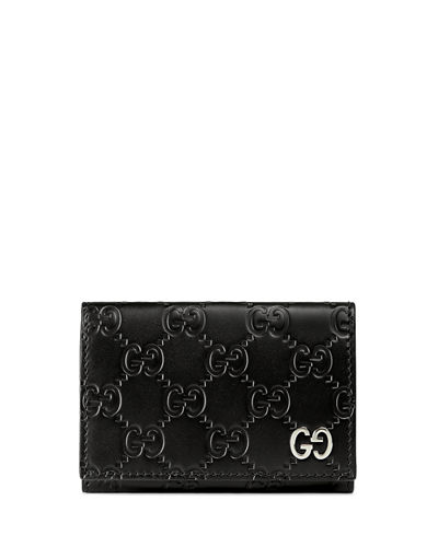 Gucci Signature Leather Card Case