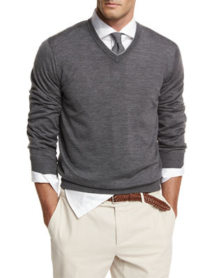 Men's V-Neck Sweaters at Neiman Marcus
