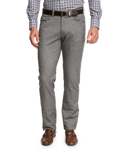 Peter Millar Crown Mountainside Flannel 5-Pocket Pants