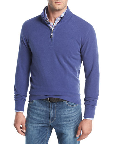 Melange Fleece Quarter-Zip Sweater