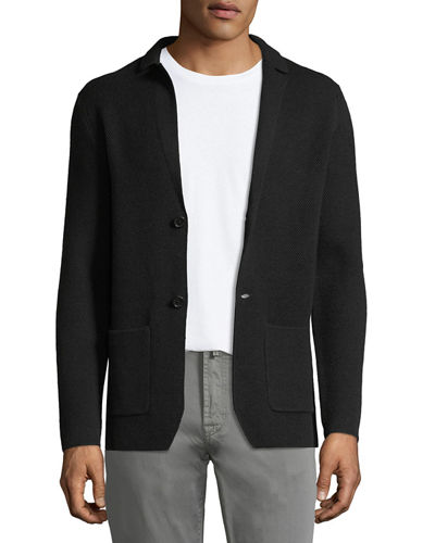 Knit Honeycomb Blazer