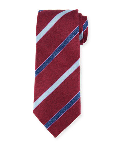 Melange Striped Silk Tie