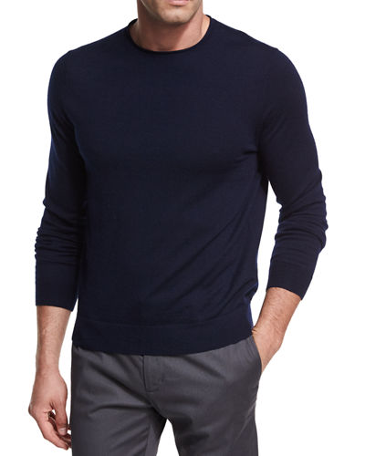 Wool-Cashmere Crewneck Sweater