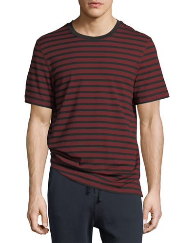 Striped Jersey Crewneck T-Shirt