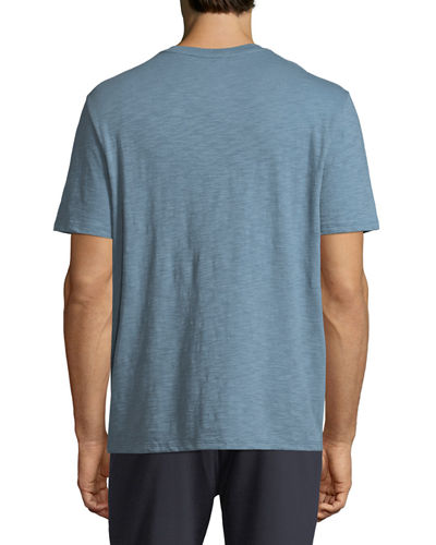 Slub Pima Cotton V-Neck T-Shirt