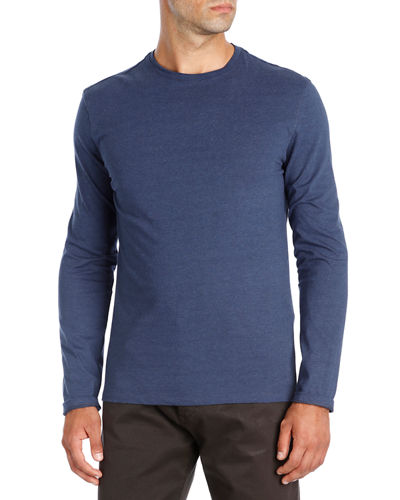 Melange Jersey Long-Sleeve T-Shirt