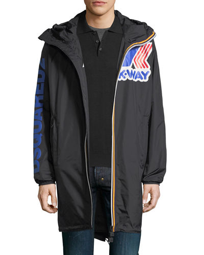 Dsquared2 x K-Way® Long Reversible Nylon Packable Jacket
