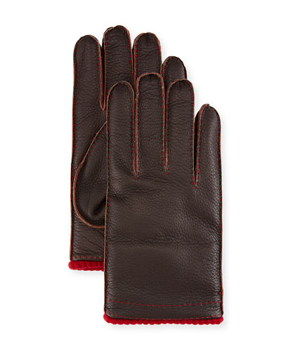 Cashmere-Lined Deerskin Gloves