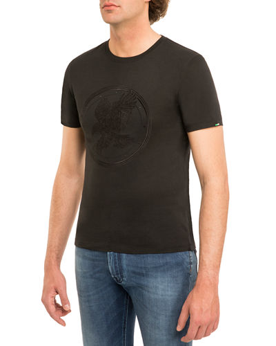 Stefano Ricci FULL EAGLE CREWNECK T-SHIRT