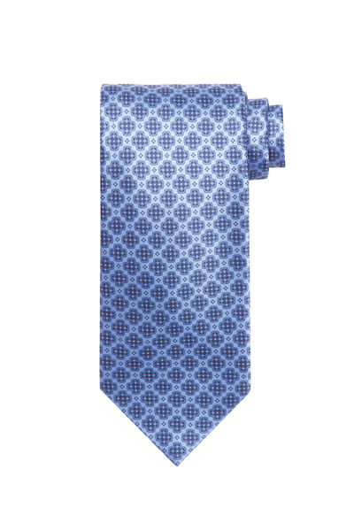 TIE WITH LARGE X PRINT