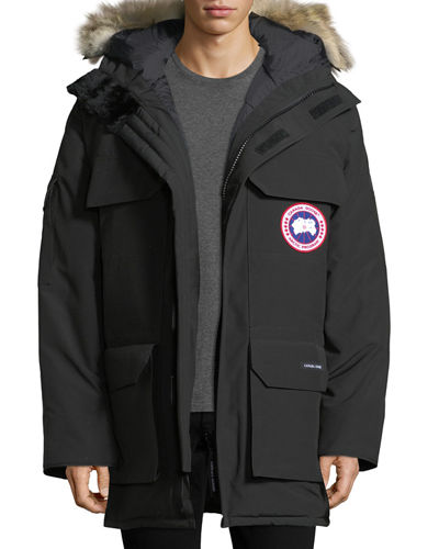 Expedition Hooded Parka with Fur Trim