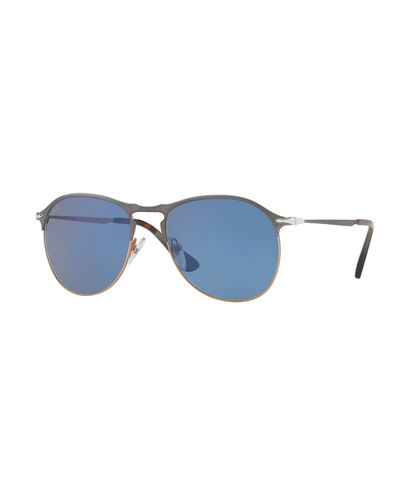 Persol PO649S Polarized Aviator Sunglasses