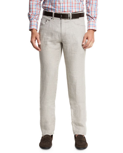 Linen Five-Pocket Pants