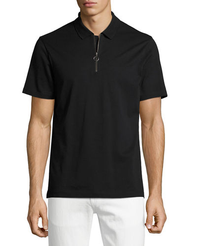 Quarter-Zip Polo Shirt