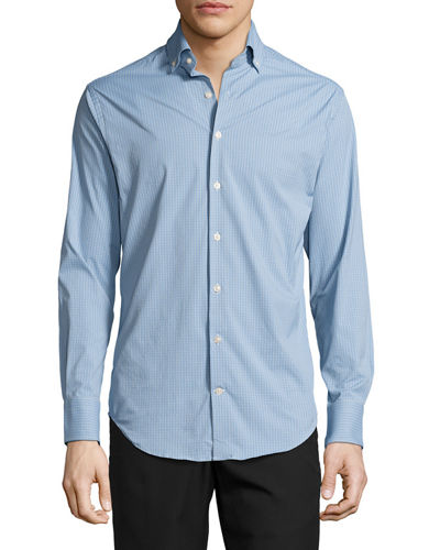 Peter Millar Statler Performance Check Sport Shirt