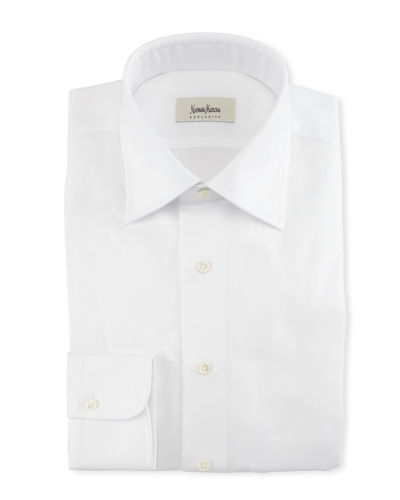 Solid Twill Dress Shirt