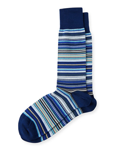 Multicolored Fine Striped Socks