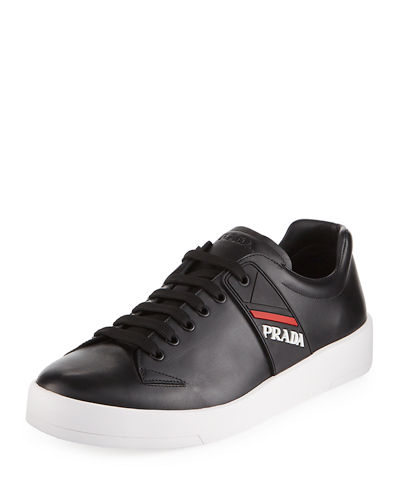 Vitello Plume Leather Low-Top Sneaker