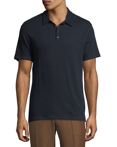 Raw-Edged Polo Shirt