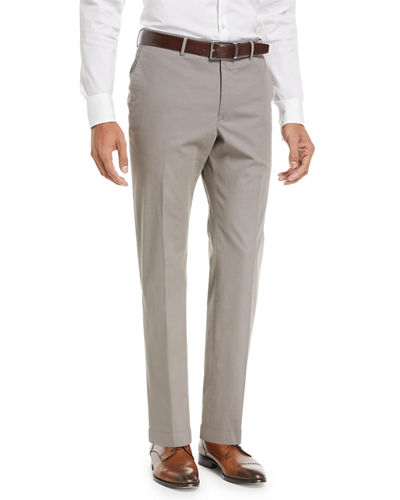 Benn Standard-Fit Stretch Cotton/Silk Pants