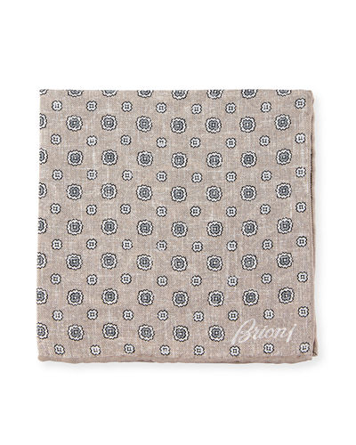 Faded Medallions Pocket Square