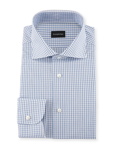 Three-Line Check Dress Shirt