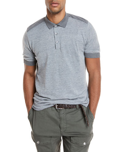 Short-Sleeve Polo Sweater