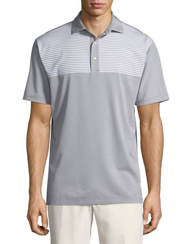 Oberline Engineered Stripe Polo Shirt