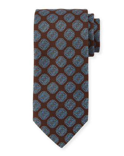 Spaced Medallion Silk Tie