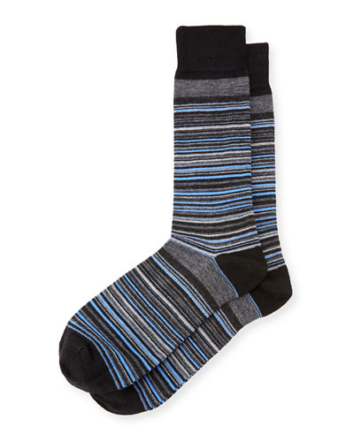 Wool-Blend Striped Socks