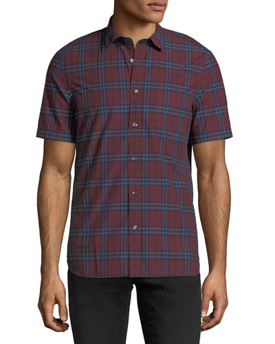Alexander Check Short-Sleeve Sport Shirt