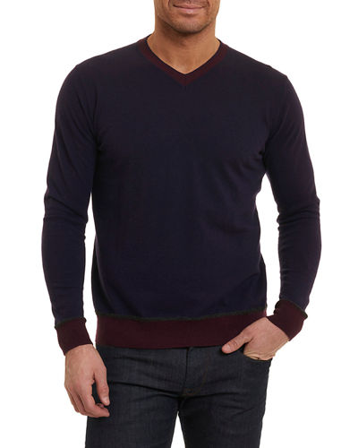 Halfmoon Two-Tone Wool-Blend Sweater