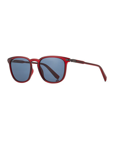 Thin Square Plastic Sunglasses