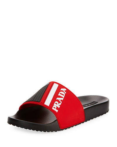 Men's Logo Rubber Slide Sandal
