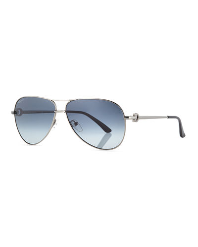 Signature Metal Aviator Sunglasses