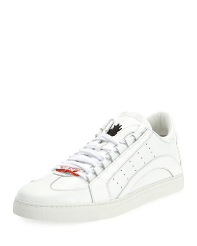 Stripe Leather Low-Top Sneaker