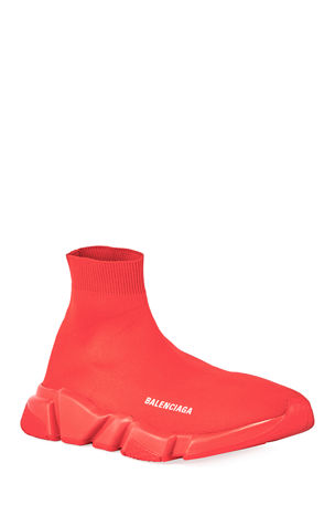 Balenciaga Men's Speed Sneakers with Tonal Sole