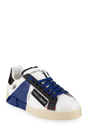 Dolce & Gabbana Men's Roma Leather Low-Top Sneakers