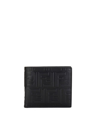 Men's Ff Embossed Leather Bifold Wallet by Fendi