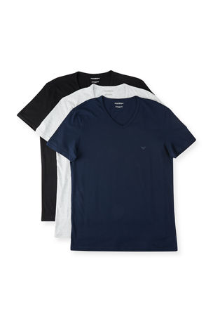 Emporio Armani Men's V-Neck Three-Pack T-Shirts