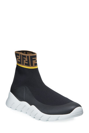 Fendi Men's Fendi Mania Reloaded FF Sock Sneakers
